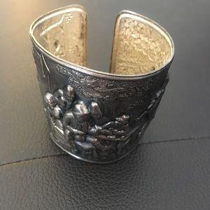 Jewelry - HANS JENSEN DENMARK Repousse Cuff